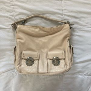 Marc Jacobs Hobo Cream Leather Shoulder Bag